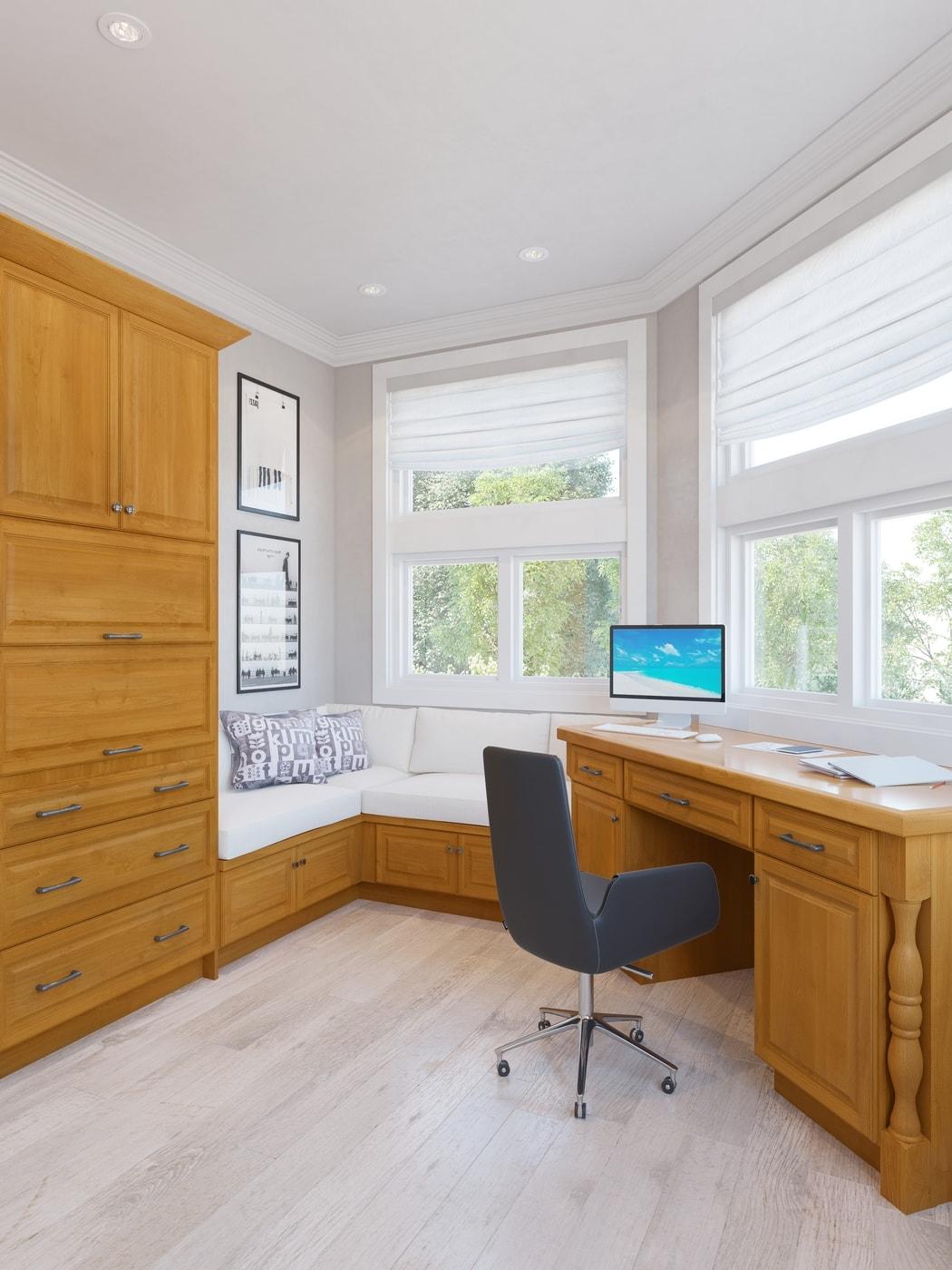 Harvest Oak Pre Embled Office Cabinetry