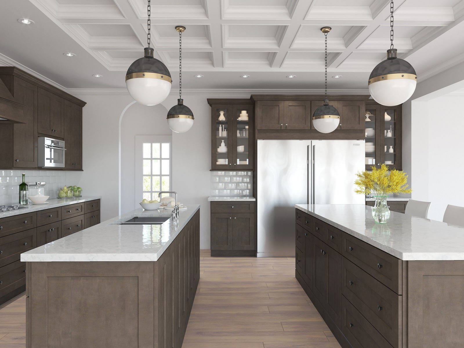 aspen grey birch kitchen cabinets instock | Natural Grey Shaker Pre-Assembled Kitchen Cabinets - The ...
