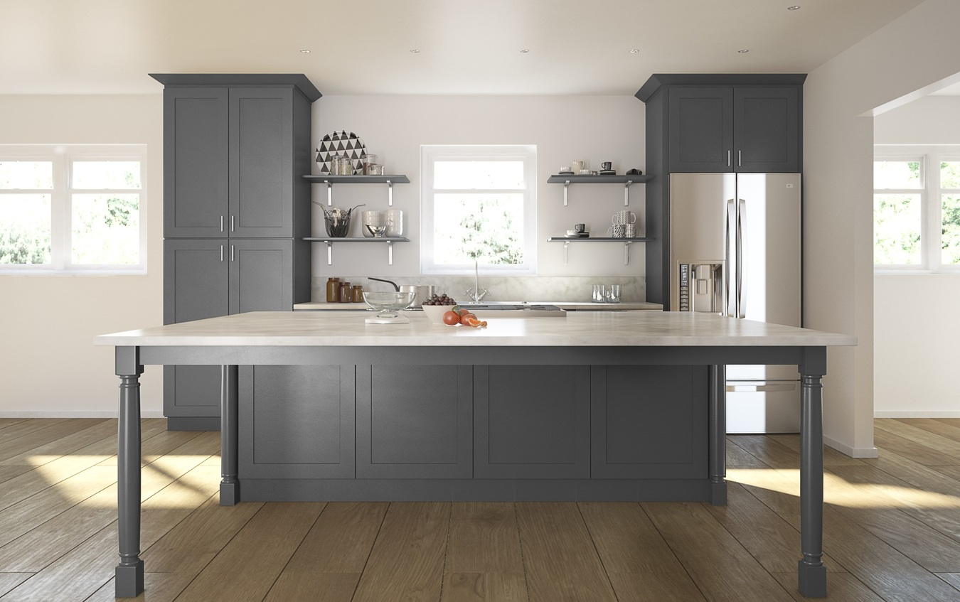 Graphite Grey Shaker - Ready To Assemble Kitchen Cabinets ...