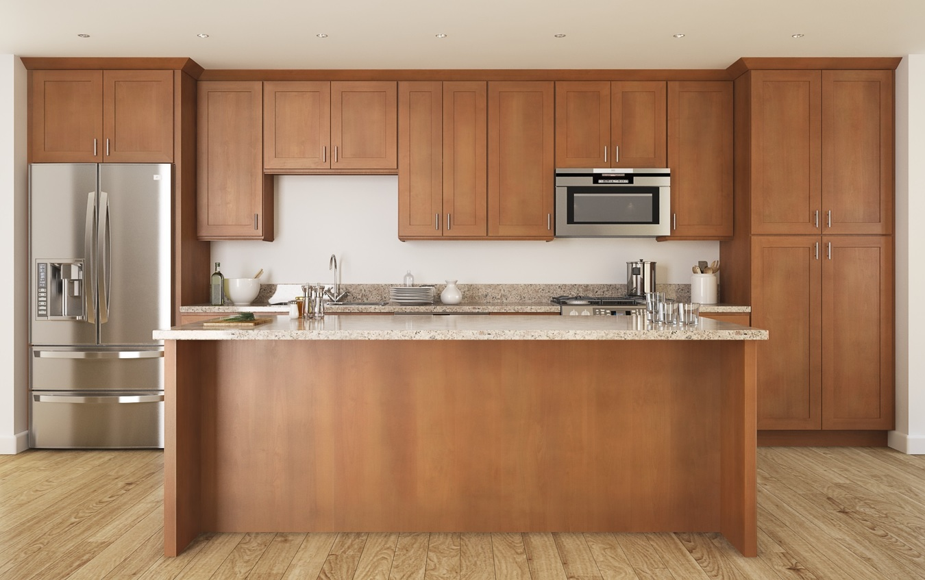 pecan shaker - ready to assemble kitchen cabinets - kitchen cabinets