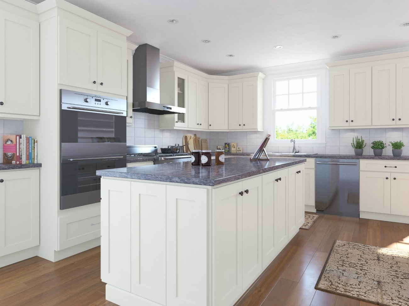 Linen Shaker RTA Kitchen Cabinets