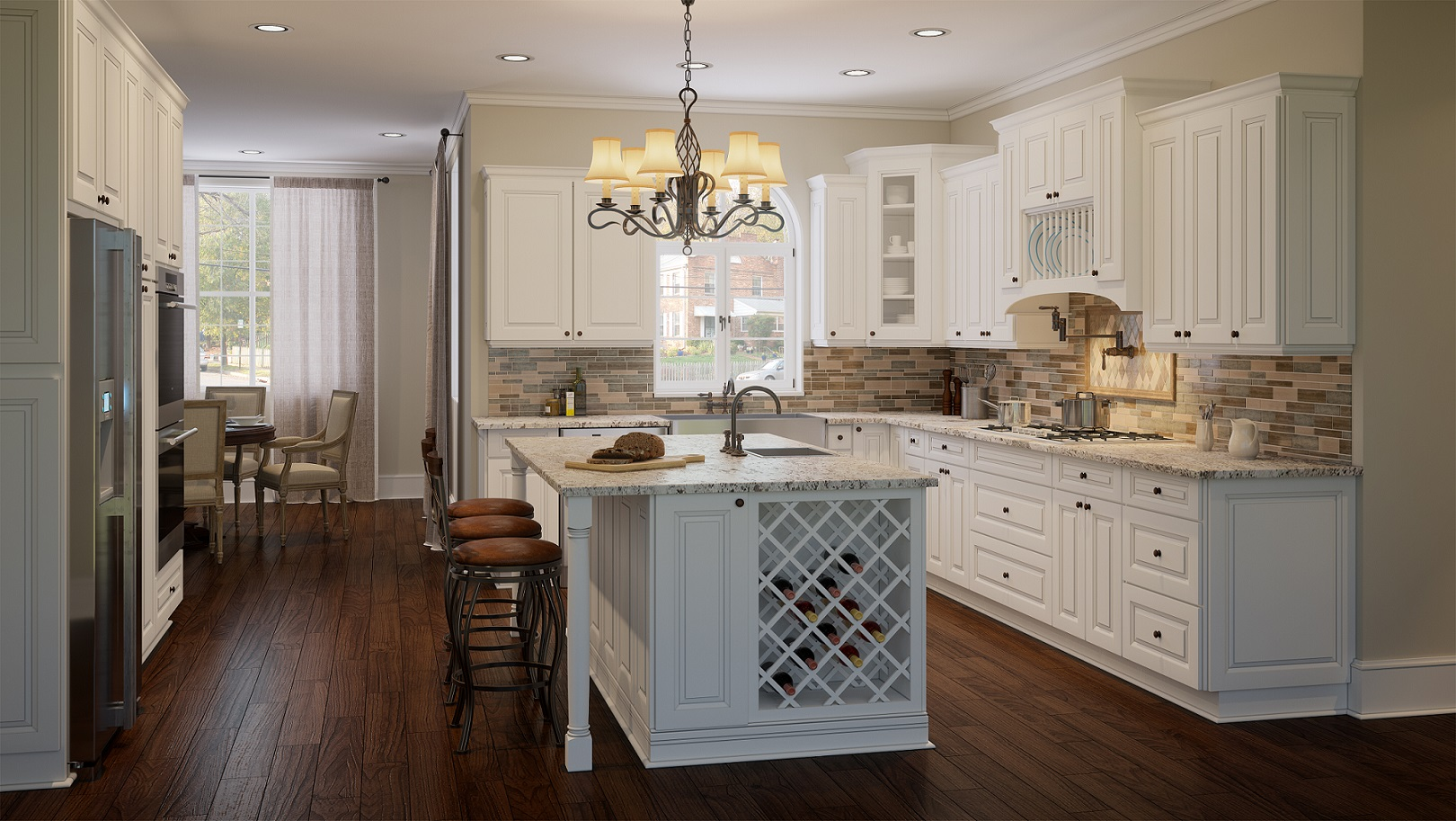 Lakewood White Ready To Assemble Kitchen Cabinets The