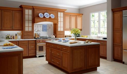 Assembled Copper Caramel Kitchen