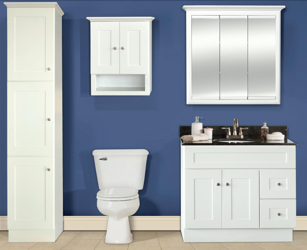 Shaker Linen Bathroom Vanities - The RTA Store