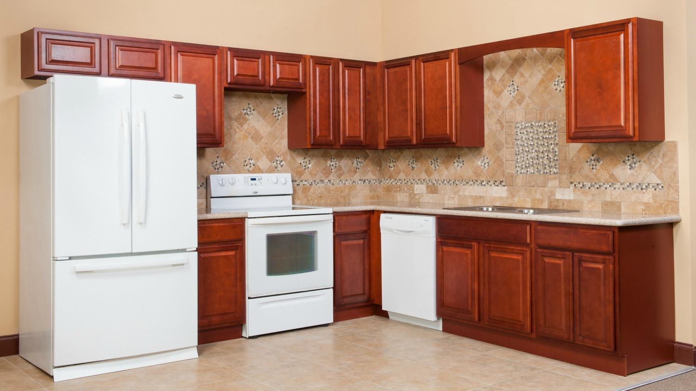 Cherry retreat ready to assemble kitchen cabinets for Ready to assemble kitchen cabinets