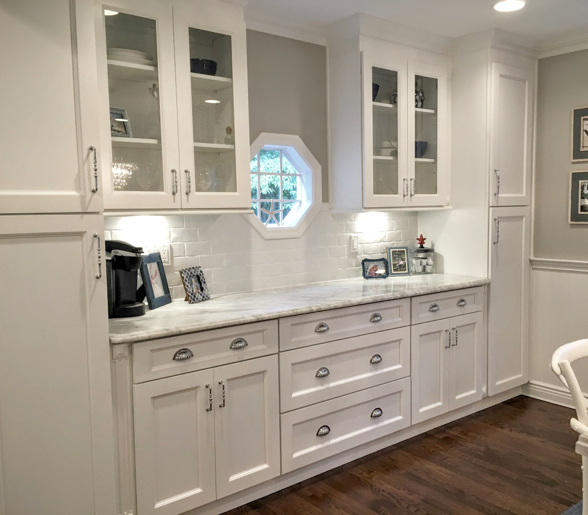 White Kitchen Hutch: Ready To Assemble Kitchen Cabinets