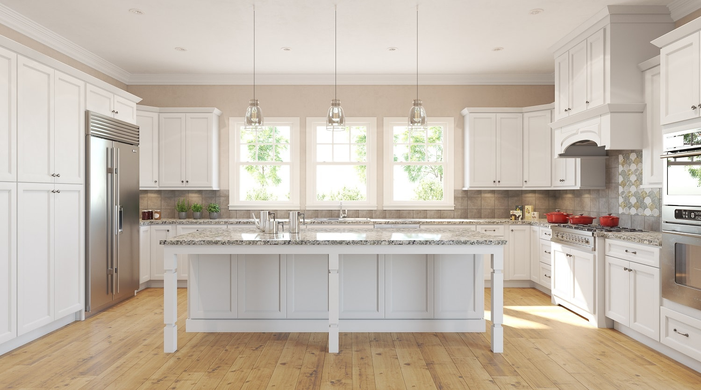 Highland White Pre Assembled Kitchen Cabinets