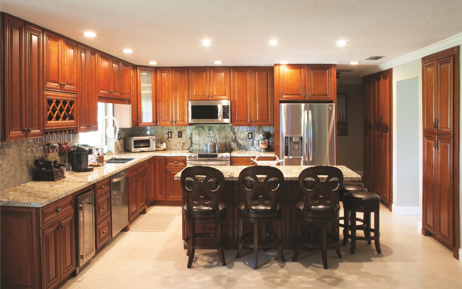 Phoenix Caramel Glaze Ready To Assemble Kitchen Cabinets The Rta
