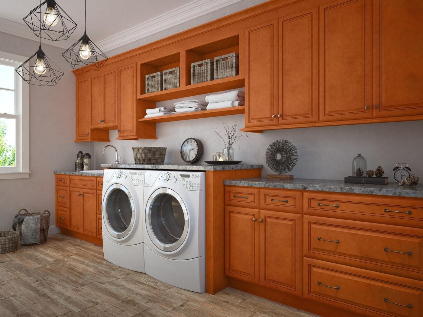 Regency Spiced Glazed RTA Laundry Room Cabinets - The RTA ... on Laundry Room Cabinets  id=49286