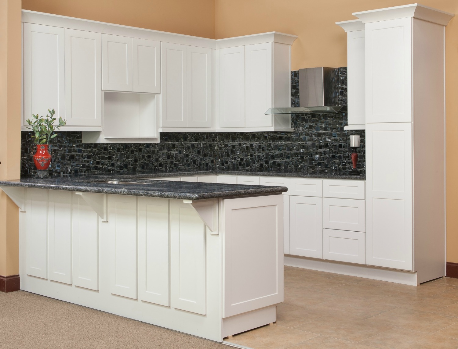 Brilliant white shaker ready to assemble kitchen cabinets for Cabinetry kitchen cabinets
