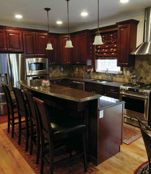 Newberry merlot pre assembled kitchen cabinets the rta store for Pre assembled kitchen units
