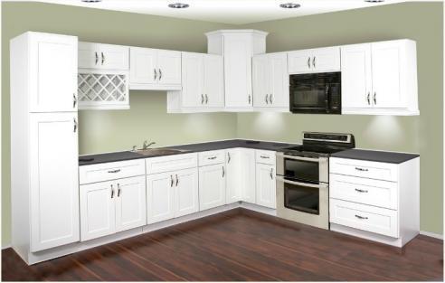 Thermofoil White Shaker Kitchen