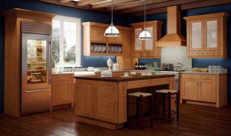 Assembled Shaker Honey Kitchen