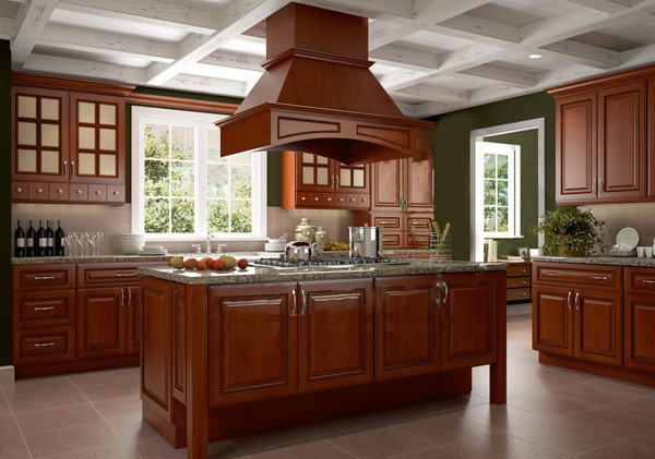 Nutmeg twist pre assembled kitchen cabinets the rta store for Already made kitchen cabinets