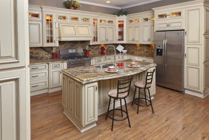 Vintage White Ready To Assemble Kitchen Cabinets Kitchen Cabinets