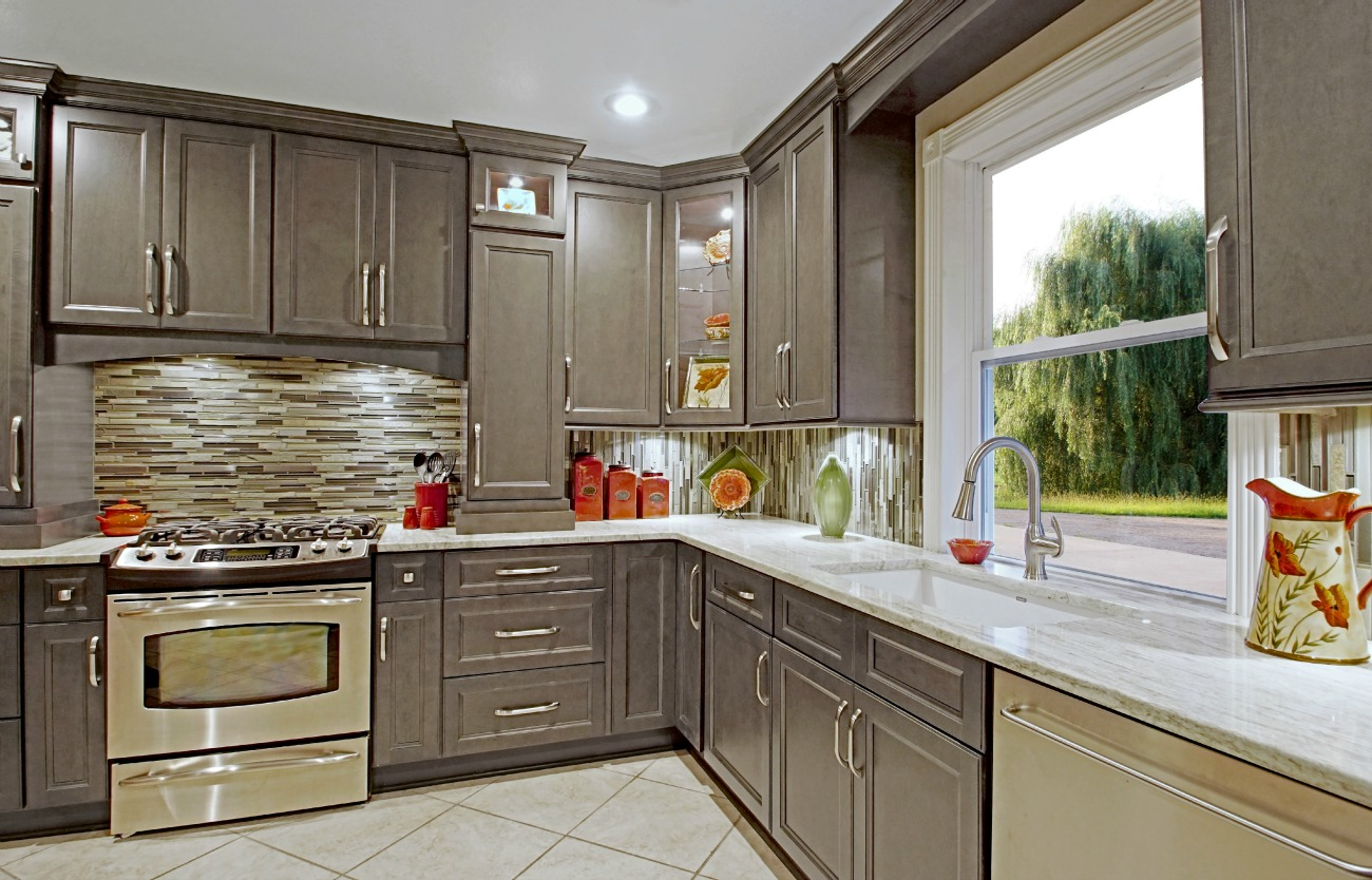 Kitchen Paint Ideas With Oak Cabinets Glazed Stone Grey Ready To Assemble Kitchen Cabinets