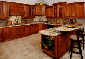 Glazed Burnished Cherry RTA Kitchen Cabinets