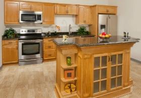 Harvest Oak RTA Kitchen Cabinets