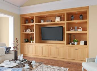 Shaker Honey Pre-Assembled TV Room Cabinets