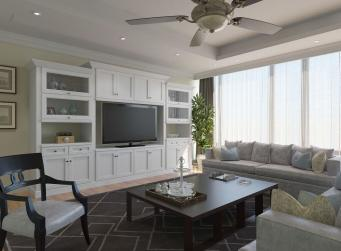 Providence White RTA TV Room Cabinets