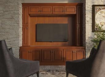 Nutmeg Twist Pre-Assembled TV Room Cabinets