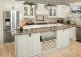 Painted Linen RTA Kitchen Cabinets