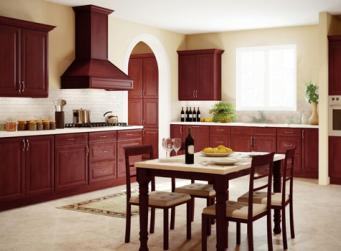 Regency Pomegranate Glaze RTA Kitchen Cabinets
