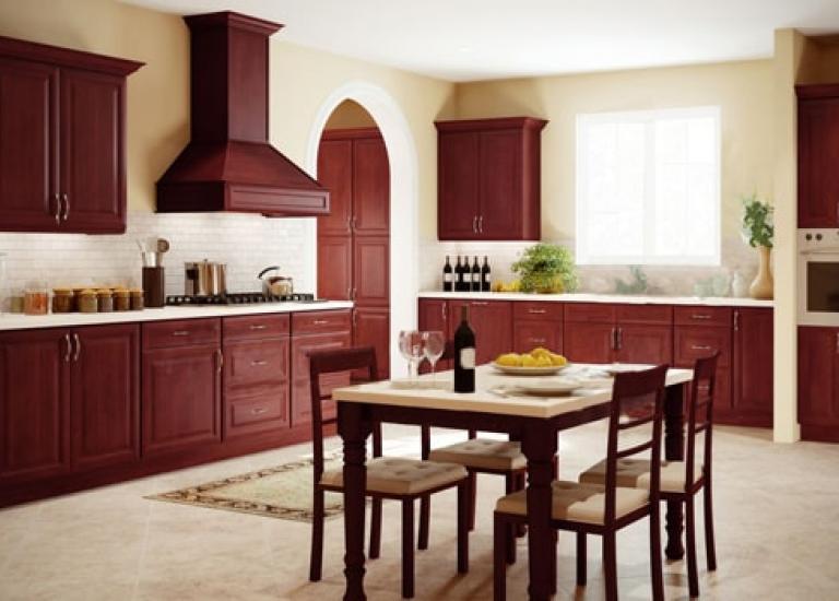Regency Pomegranate Glaze Pre Embled Kitchen Cabinets