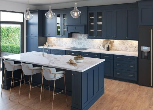 Blue Shaker Kitchen Cabinets