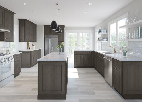 Providence Natural Grey Shaker Pre-Assembled Kitchen Cabinets