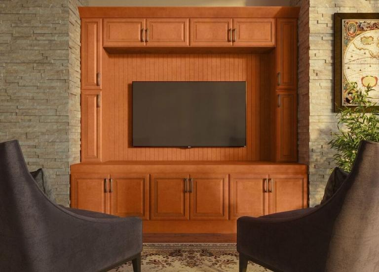 Regency Spiced Glaze RTA TV Room Cabinets