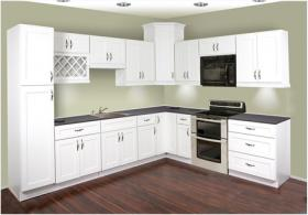 Thermofoil White Shaker RTA Kitchen Cabinets