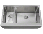 Offset Stainless Steel Apron/Farmhouse Sink
