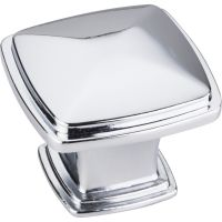 """Jeffrey Alexander By Hardware Resource - Milan 1 Collection Knobs - 1.188"""" Overall Length in Polished Chrome"""