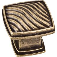 """Jeffrey Alexander By Hardware Resource - Encada Collection Knobs - 1.188"""" Overall Length in Distressed Antique Brass"""