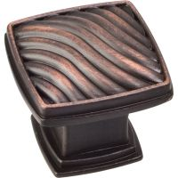 """Jeffrey Alexander By Hardware Resource - Encada Collection Knobs - 1.188"""" Overall Length in Brushed Oil Rubbed Bronze"""