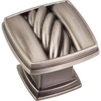 """Jeffrey Alexander By Hardware Resource - Encada Collection Knobs - 1.188"""" Overall Length in Brushed Pewter"""