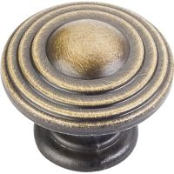 "Jeffrey Alexander By Hardware Resource - Bremen 2 Collection - 1.25"" Diameter in Antique Brushed Satin Brass"