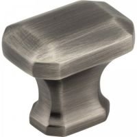 "Jeffrey Alexander by Hardware Resources - Ella Collection Cabinet Knob - 1.25"" Diameter in Brushed Pewter"