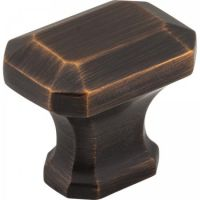 "Jeffrey Alexander by Hardware Resources - Ella Collection Cabinet Knob - 1.25"" Diameter in Brushed Oil Rubbed Bronze"