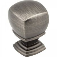 """Jeffrey Alexander by Hardware Resources - Katharine Collection Cabinet Knob - 1"""" Diameter in Brushed Pewter"""