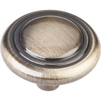 """Elements By Hardware Resource - Kingsport Collection Knobs - 1.25"""" Diameter in Brushed Antique Brass"""
