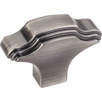 "Jeffrey Alexander By Hardware Resource - Maybeck Collection Knobs - 1.063"" Overall Length in Brushed Pewter"