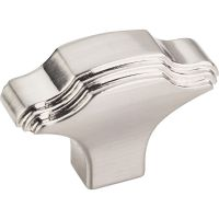 "Jeffrey Alexander By Hardware Resource - Maybeck Collection Knobs - 1.063"" Overall Length in Satin Nickel"