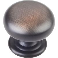 "Elements By Hardware Resource - Florence Collection Knobs - 1.25"" Diameter in  Brushed Oil Rubbed Bronze"