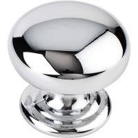 "Elements By Hardware Resource - Florence Collection Knobs - 1.25"" Diameter in Polished Chrome"