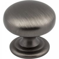"Elements by Hardware Resources - Florence Collection Cabinet Knob - 1.25"" Diameter in Brushed Pewter"