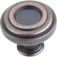 """Jeffrey Alexander By Hardware Resource - Lafayette Collection Knobs - 1.375"""" Diameter in Brushed Oil Rubbed Bronze"""
