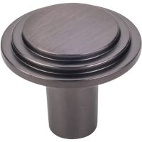 "Elements By Hardware Resource - Calloway Collection Knobs - 1.25"" Diameter in Brushed Oil Rubbed Bronze"