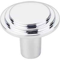 "Elements By Hardware Resource - Calloway Collection Knobs - 1.25"" Diameter in Polished Chrome"